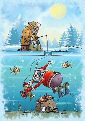 открытка с приколами про рыбалку
